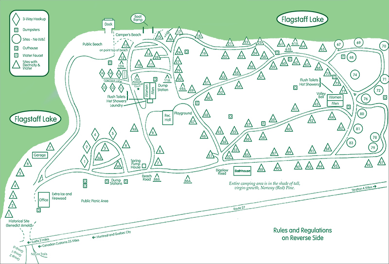 Cathedral Pines Campground Eustis Maine - Us-camping-map